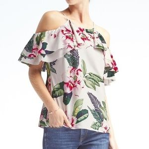 Banana Republic Cold Shoulder Blouse